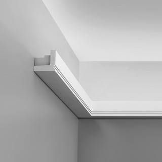 "This is for Lighting at your ceiling.  It's very cool.  Only 2""x2"" though, much smaller then I would have thought.  Luxxus Crown Molding C361 - C361  $49.50 for 6.5"" X 2"" X 2"""