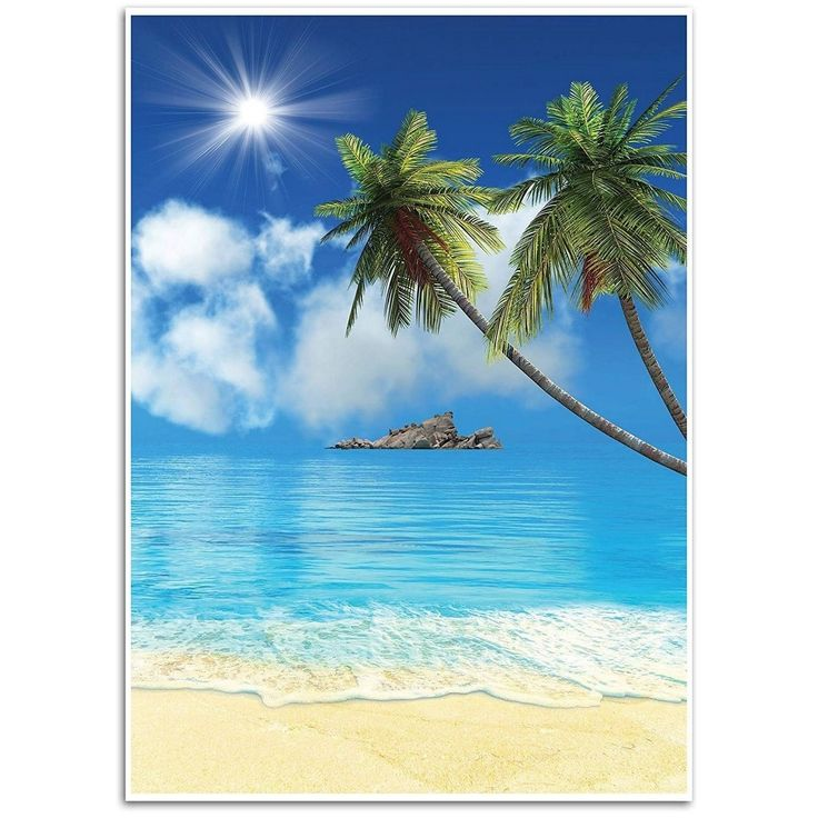 Tropical Beach Hintergrund, ideal für Studio, Stand, geschäftliche Nutzung, 4,9 x 7,2 Meter