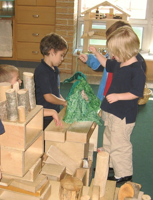 3 Billy Goats Gruff- build a bridge out of blocks and reenact the story.