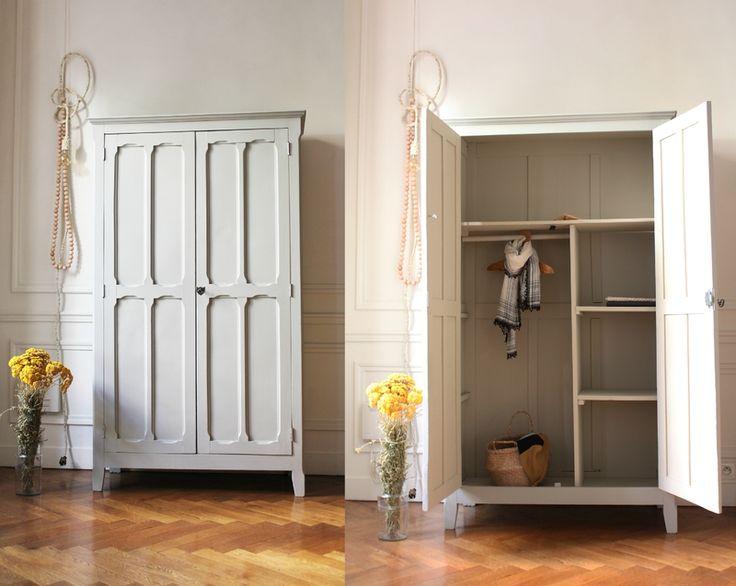 Les 8 meilleures images du tableau armoire parisienne sur pinterest armoires chaises et chevets - Armoire parisienne vintage ...