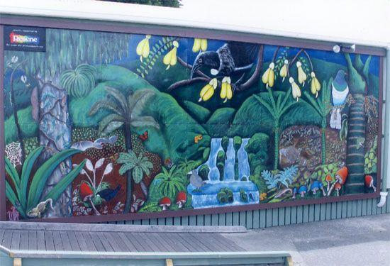 Woodlands School mural