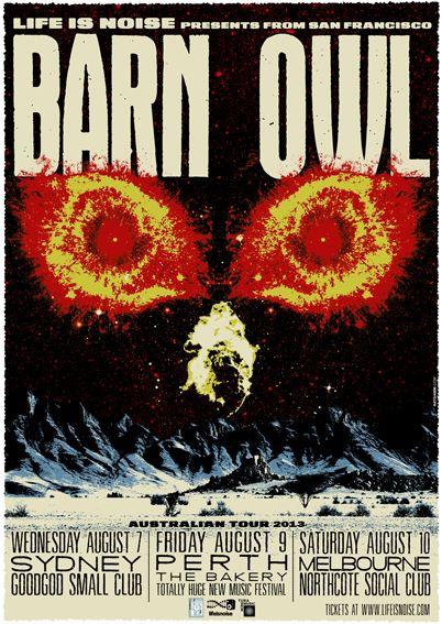 Barn Owl (USA) - Northcote Social Club, 10 Aug 2013 - Info/tix: https://corner.ticketscout.com.au/gigs/1551-barn-owl-