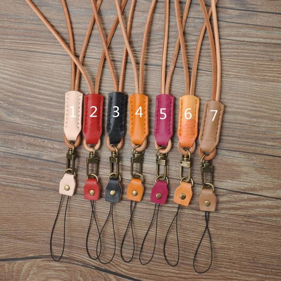 Handcrafted iPhone lanyard  Leather , Leather keychain, ID holder leather lanyard, key strap, Leather neck strap, ID holder badge,