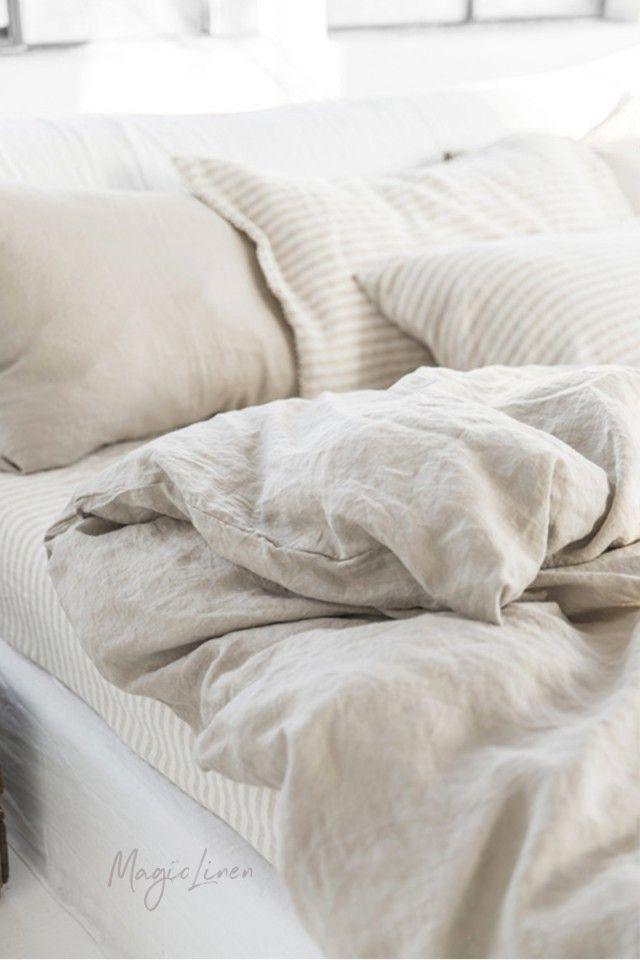 Natural Linen Color Duvet Set Magiclinen Bed Linen Design