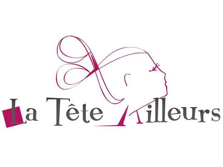 Identitu00e9 visuelle / logo La tu00eate ailleurs / Salon de coiffure | Identitu00e9 visuelle | Logo ...