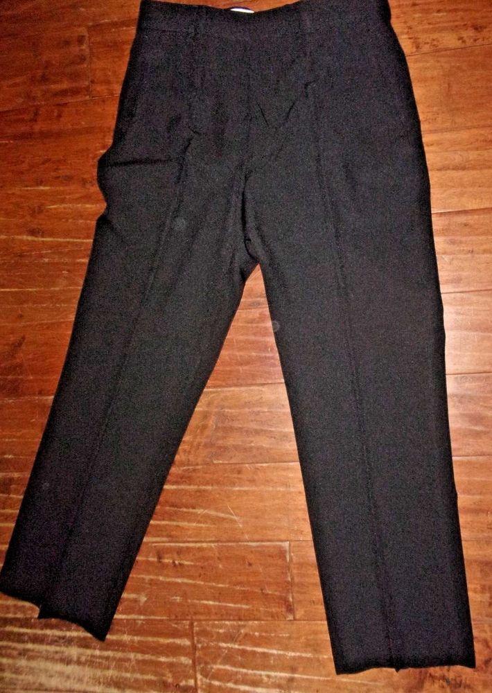Haband Mens Black Dress Slacks Pants Size L 30 W 34 W Tag