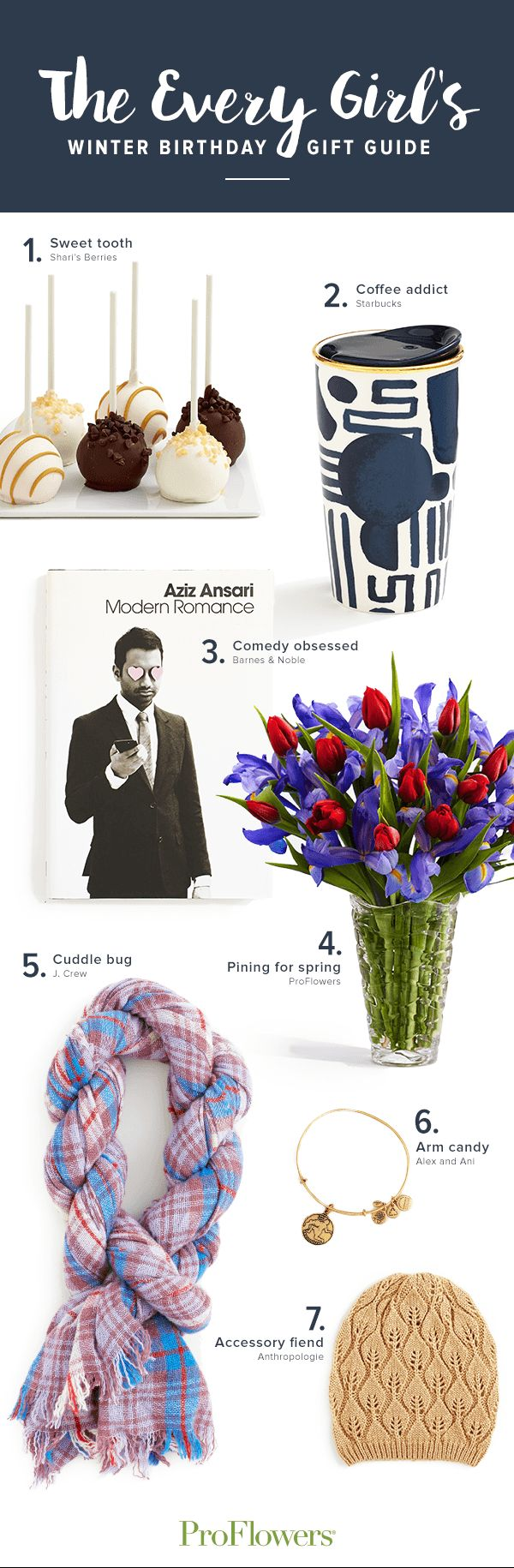 If your girlfriend's, best friend's, or Mom's birthday is coming up this winter and you're stumped for gift ideas, get her something that will keep her inspired! Here are 7 gift ideas for her on her birthday, organized by personality.