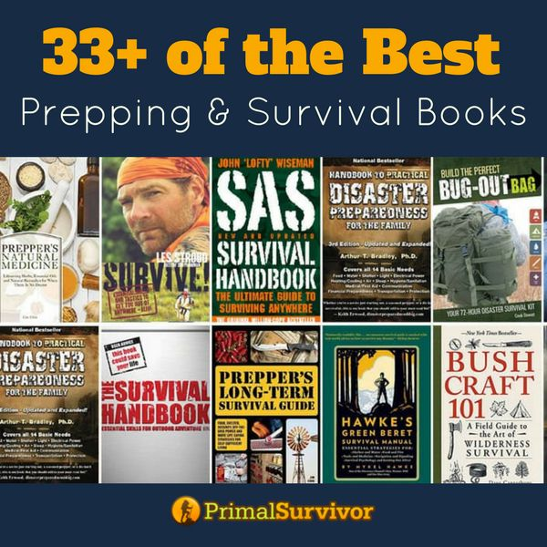 Books won't crash when the grid goes down. Stock your survival library now so that you always have information to hand when you need it. Choose from our recommened selection of prepping and survival books. #preppingbooks #survivalbooks #emergencypreparedness #shtf