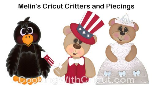 """Cricut Paper Piecing Cartridge Critters Animals and Paper Piecing Patterns Created Using Cricut Cartridges. No Gypsy, Design Studio or Craft Room. Just """"Cartridges and Expression"""""""