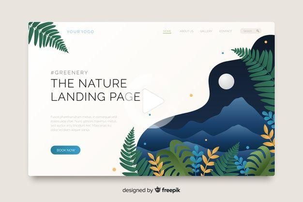 Charging Nature Landing Page Template Downloaded For Free In 2020 Banner Design Layout Web Design Tutorials Webpage Design