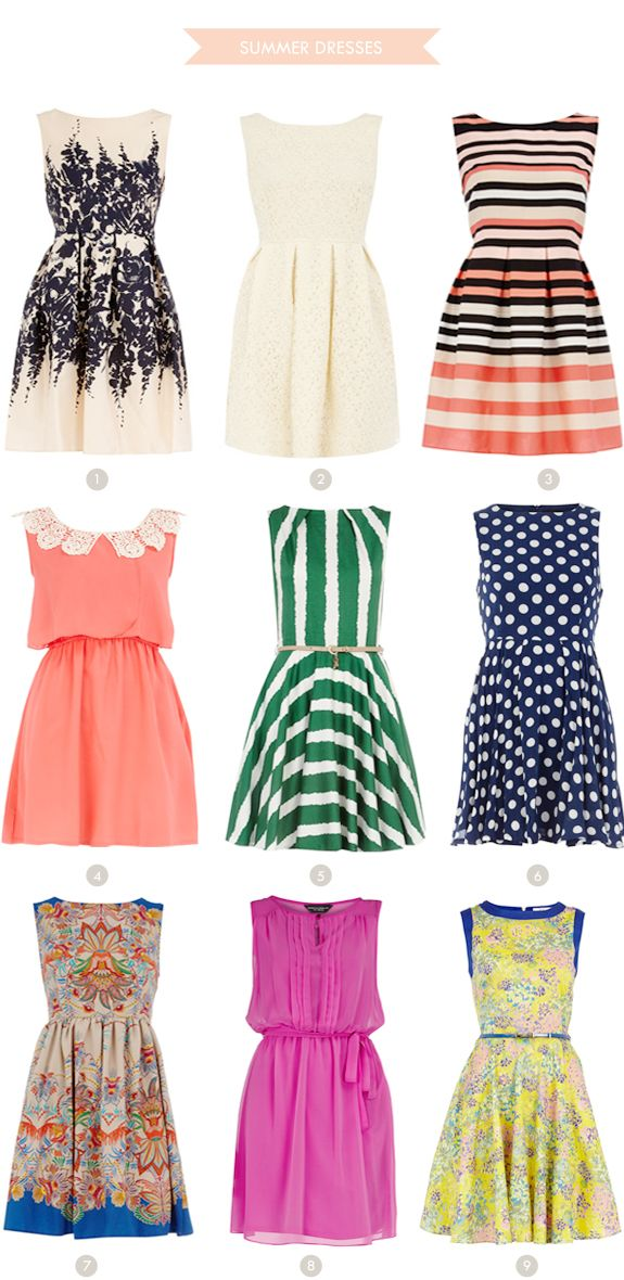 Take your pick!! Great summer dresses for my casual office! (Brunch at Saks)