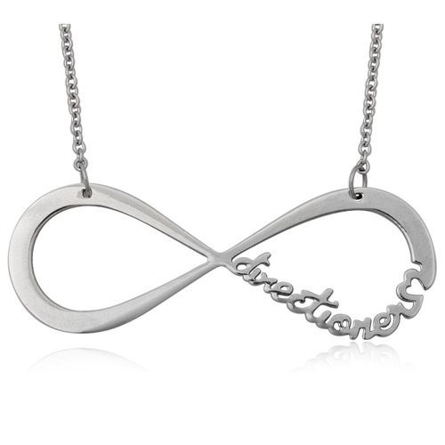 One Direction Inspired Infinity Directioner Necklace (http://www.wordon.com.au/products/one-direction-inspired-silver-infinity-one-directioner-necklace.html)