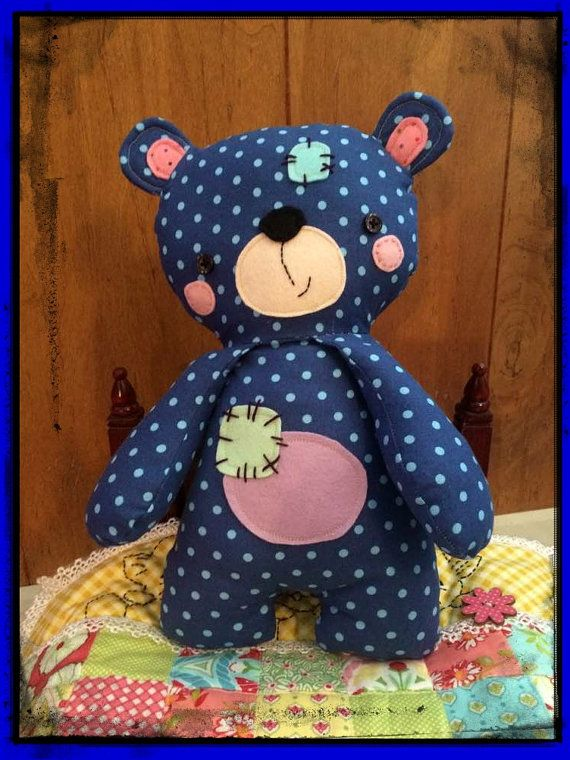 Handmade Teddy Bear named Patches...suitable by MimiskidsTreasures