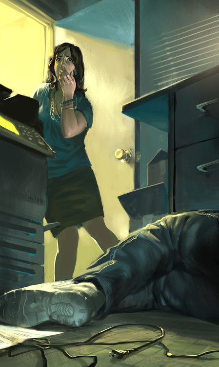 A fun pulpy illustration for a piece in the Kansas City Star about Pastor David Love and Teresa Stone. It's a crazy story about sex and murder soread all about it! On a side note, I've always wanted an excuse to paint shadows cast by mini-blinds.