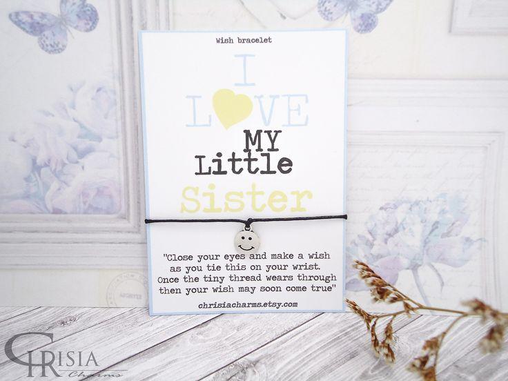 http://etsy.me/2nSuGGg: Sister Wish Bracelet, Wish Bracelet, Sister Bracelet, Charm Bracelet, Friendship Bracelet, Sisters Gift, Gift for Sister, String Bracelet  #chrisiacharms #etsy #bracelets #wishbracelets #sisterbracelet #lovemysister #giftforsister #charmbracelet