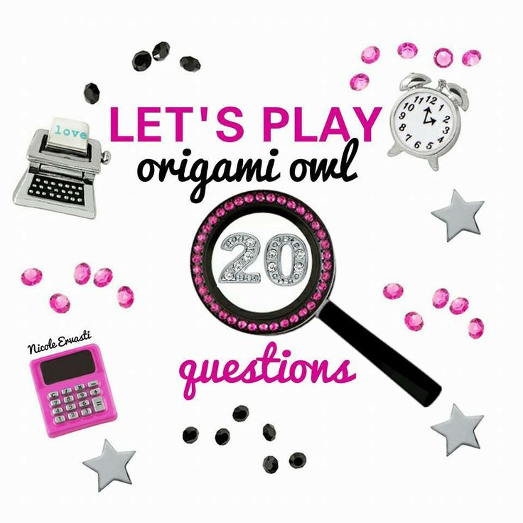 Let's play a game! Ask any questions you have about Origami Owl; the company, hosting a Jewelry Bar, the business opportunity as a Designer...ANYTHING! Once we reach 20 questions, I will select someone using random.org (that has asked a question), to earn a *FREE* gift from me! Whoo wants to get us started?!
