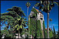 Башня зал и деревья, Сан-Хосе государственного университета.  Сан - Хосе…