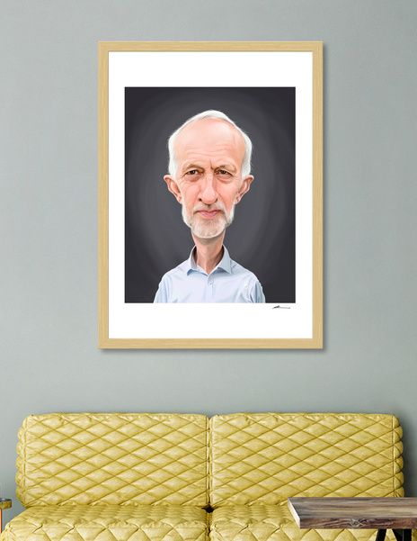 Discover «Jeremy Corbyn», Numbered Edition Fine Art Print by rob art | illustration - art | decor | wall art | inspiration | caricature | home decor | idea | humor | gifts