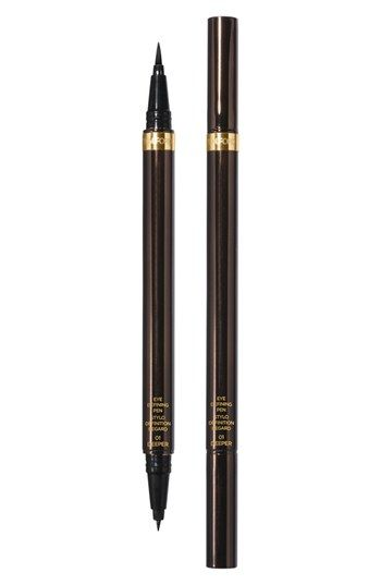 """Tom Ford Eye Defining Liquid Liner Pen $55. Highly recommended by Anne-Marie Guarnieri, Editor-in-Chief, xovain.com, """"It's never messy and it stays put all day, even in sweaty conditions. FURTHER, I've had mine for over two years now, and it's only just starting to get a little dry. No other eyeliner pen has ever lasted this long for me."""""""