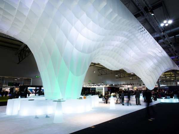 Ice Berg-Mimicking Installations -  The Mido Fair Stand is an Artful and Dynamic Architectural Piece #architecture #design #interiordesign