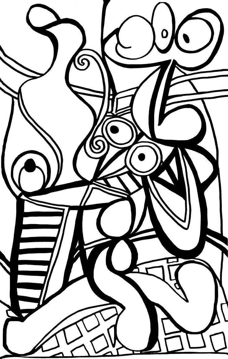 96499711_o.jpg (1305×2048)   Coloriage, Dessin picasso ...