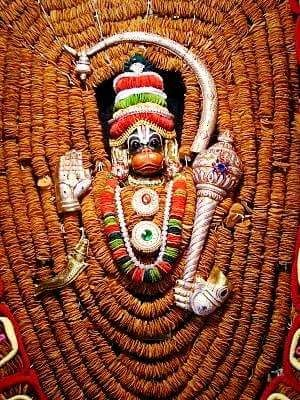 Ashtamsha varada Anjaneya temple, coimbatore,-- vada alnkaram
