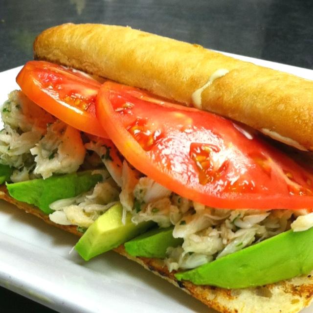 Heirloom Tomato, Avocado, and Crab Sandwich
