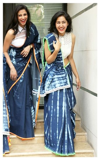 Denim Inspired #Saree.