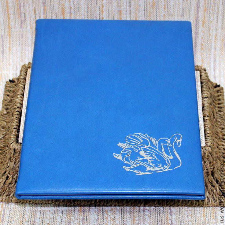 Купить Папка для свидетельства, свадебная папка, папка под свидетельство - голубой, папка для свидетельства