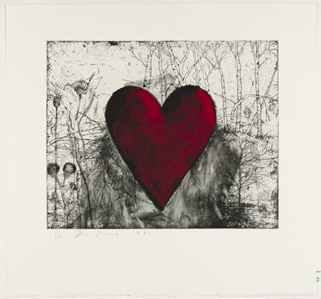 Jim Dine - The Little Heart in the Landscape, 1991. Drypoint and etching MoMA