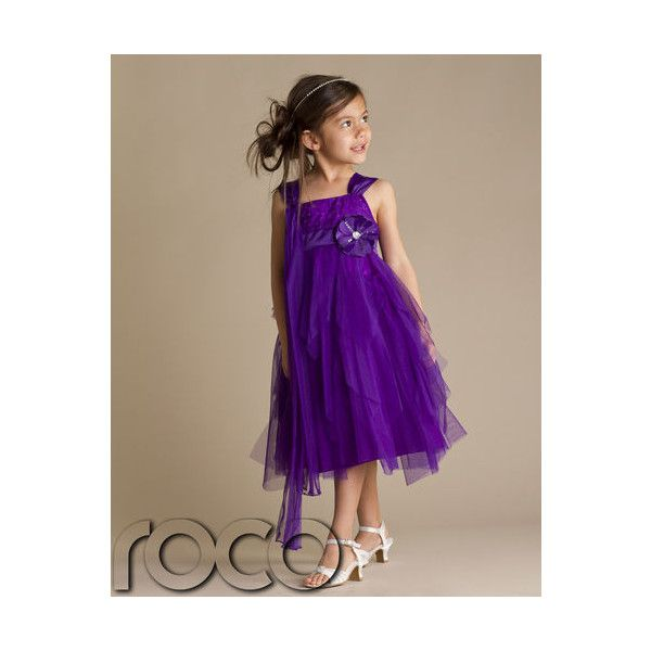 Girls Party Dress Purple Flower Girl Dresses Prom Bridesmaid 1 13yrs Found On