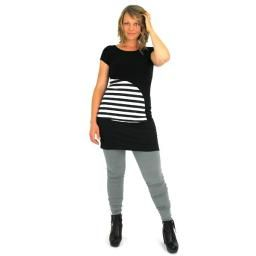 Fitted Comfy Skirt Mini, Black: Adorable mini skirt by Texture. Made from super durable bamboo.