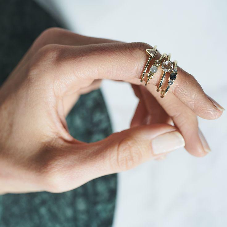 Dear Rae | Fancy Pants Diamond Ring Collection  #DearRae #DearRaeJewellery #DiamondRings #ColourDiamonds #EngagementRings #TrilogyRing #RoseCutDiamondRings