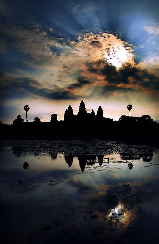 Reflection, Angkor Thom, Cambodia.  There's nothing quite like it.