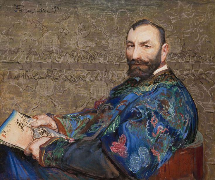 Leon Wyczółkowski, Portret Feliksa Jasieńskiego w błękitnym kaftanie