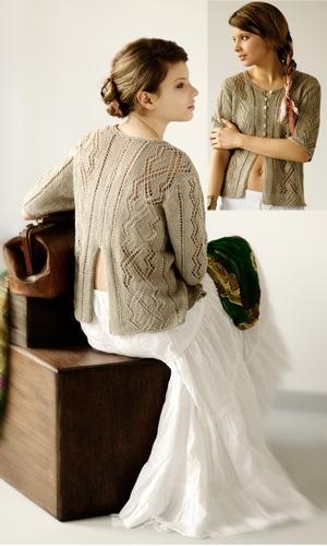 Hysope, designed by Daniele Dietrich. Euroflax linen & #lace