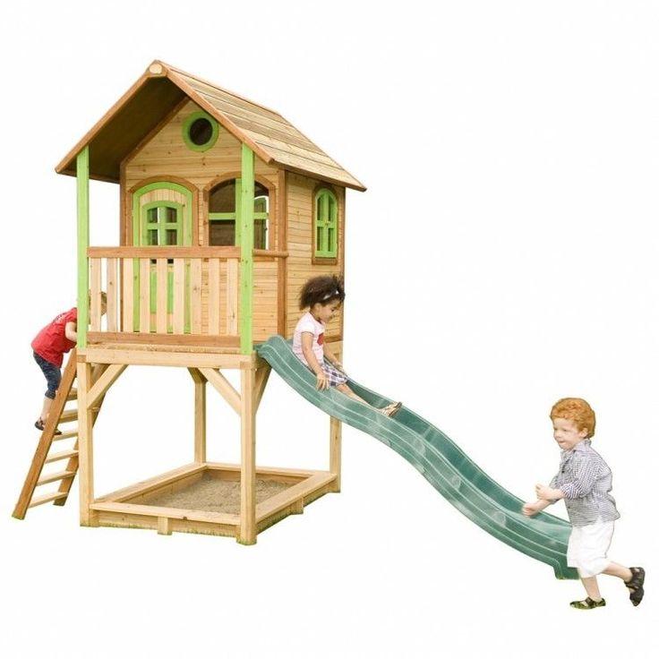 Kids Outdoor Playhouse Garden Play Backyard Wooden Activity Sandpit Slide Ladder #KidsOutdoorPlayhouse