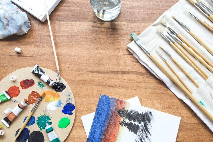 Paint Brushes Palette Canvas