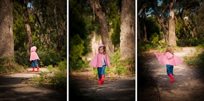 reversible cape, 3/4 pant, gumboots | all available from missy melly