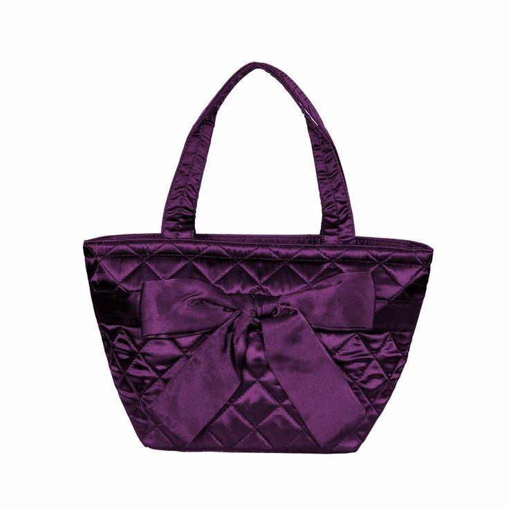 Dámská fialová kabelka Naraya do ruky s prošívaným vzorem NNBS42S179