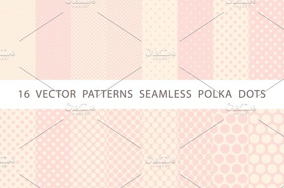 patterns seamless polka dots by Rommeo79 on @creativemarket