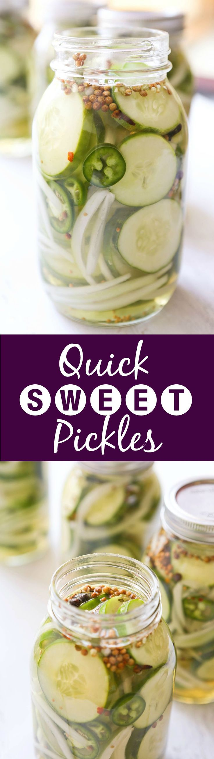 Quick Sweet Refrigerator Pickles | These pickles are EASY! And soooo delicious!