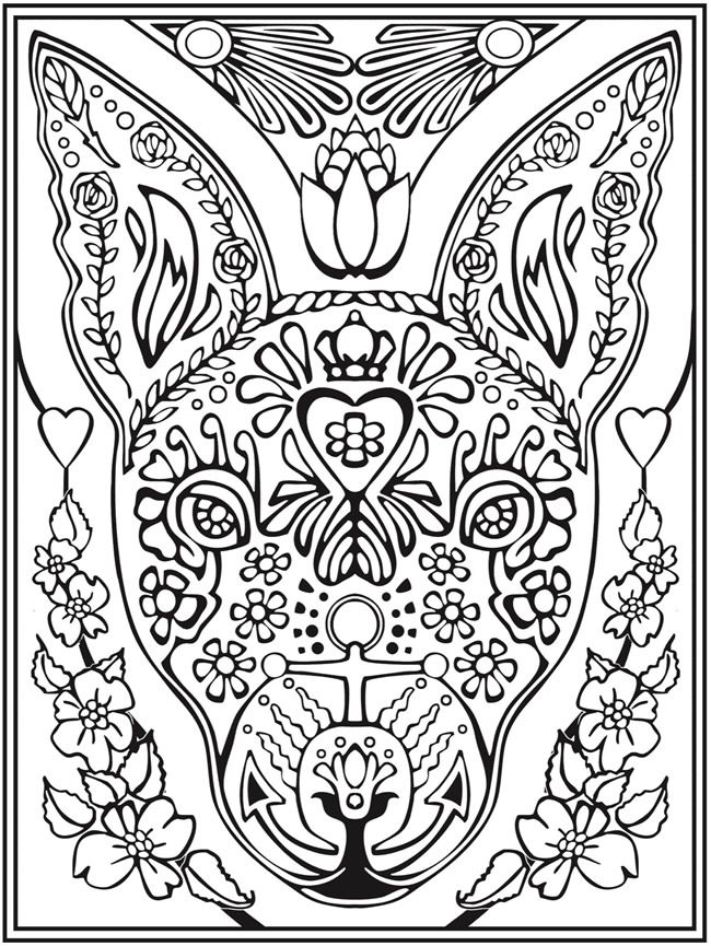 Welcome To Dover Publications Creative Haven Animal Calaveras Coloring Book By Mary Agredo And Javier Pic