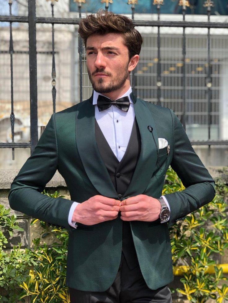 Hudson green tuxedo suit in 2020 slim fit tuxedo suits