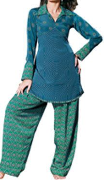 """Easy to make Indian Style Salwar pants. - Also check out heartlandhijab.com for a list of other sites that offer FREE """"how-to"""" sewing patterns for modest dress!"""