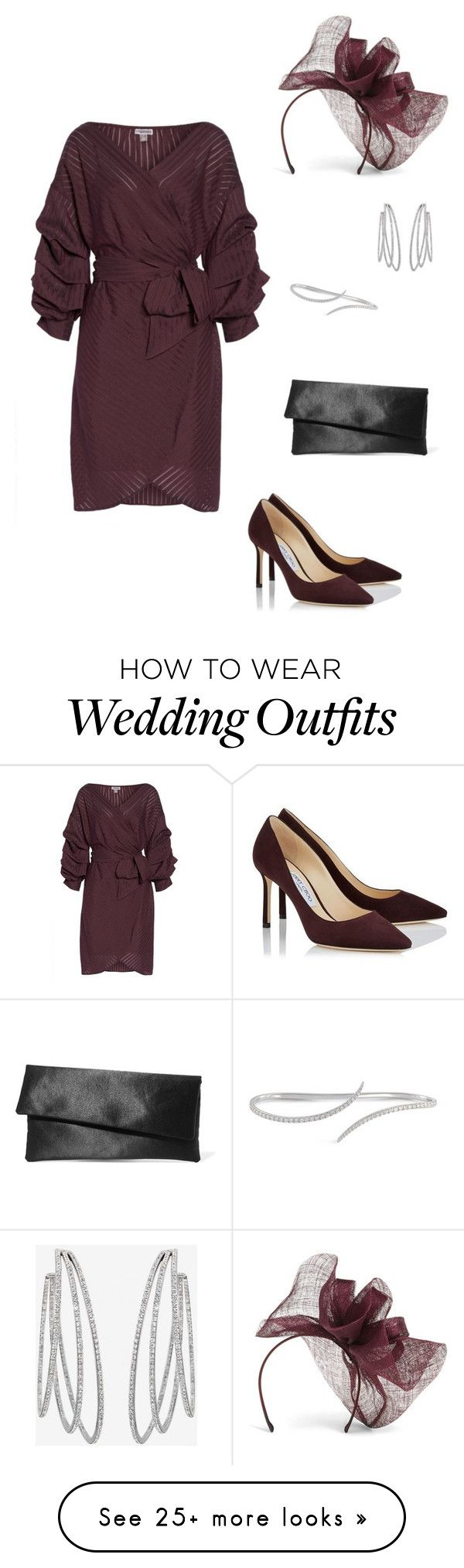 """""""Wedding Guest"""" by laurenhansendenatly on Polyvore featuring Chelsea28, Phase Eight, Messika and Iris & Ink"""
