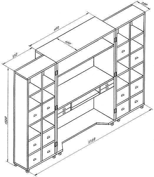 Как сделать шкаф для компьютера. Оборудуем рабочее место.