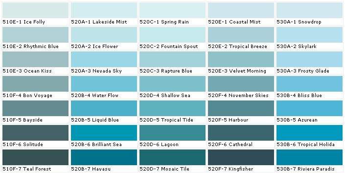 Ocean Blue Paint Colors Behr Paints Chip Color Swatch