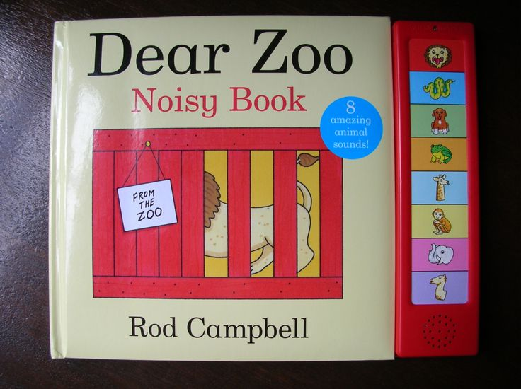 Dear Zoo (with sounds) To read to baby. Babies can imitate sounds before they can speak, so love this book.  They also love to find the hidden animals under the flaps.