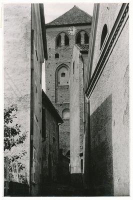 Rastenburg, Gasse an der Georgkirche